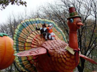 Thanksgiving Turkey float from Macy's parade