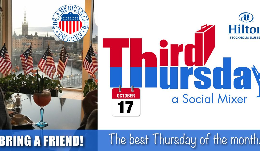 Third Thursday Mixer, Oct. 17 @ Hilton Slussen