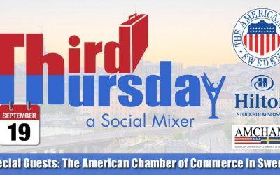 Third Thursday Mixer, Sept. 19 @ Hilton Slussen