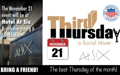 Third Thursday Mixer, Nov 21 @ Hotel At Six