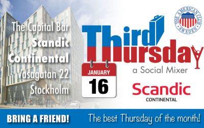 Third Thursday Mixer, Jan 16 @ Scandic Continental