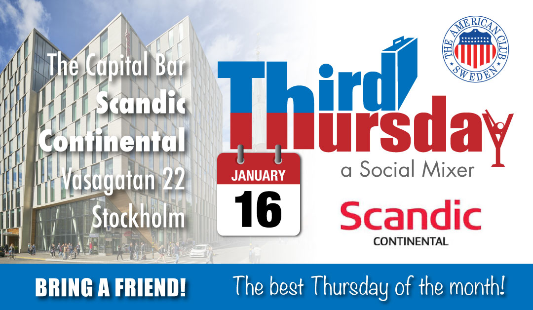 Third Thursday Mixer, Jan 16 @ Scandic Continental