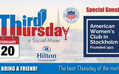 Third Thursday Mixer, Feb 20 @ Hilton Slussen
