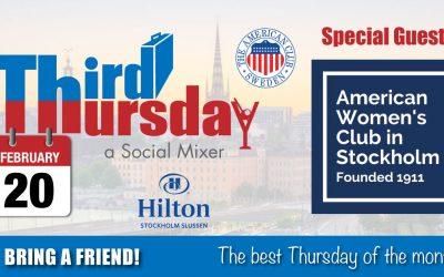Third Thursday Mixer, Feb 20 @ Hilton Slussen