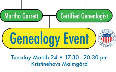 Genealogy Event, March 24