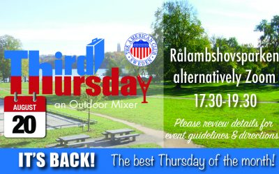 Third Thursday Mixer, Aug. 20th @ Rålambshovsparken alternatively Zoom